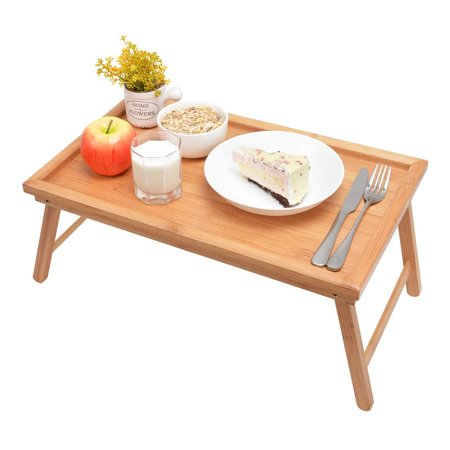 Ktaxon Wood Breakfast Bed Tray Lap Desk Serving Table Foldable Legs Bamboo Food Dinner](Breakfast Bed Tray)