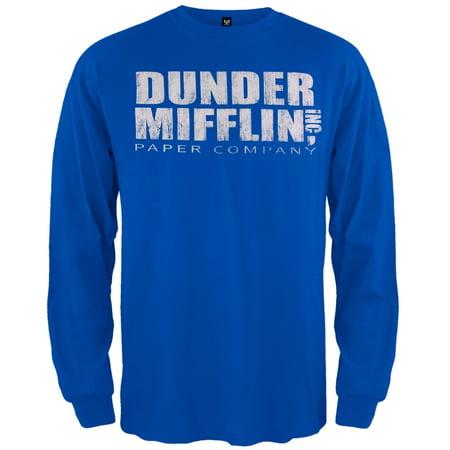 8babf5b22ae3 The Office - The Office - Dunder Mifflin Long Sleeve Blue T-Shirt -  Walmart.com
