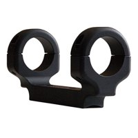 "DNZ 11280 1-Pc Base & Ring Combo For Ruger American Short Action Black Matte Finish 1"" Rings Medium"