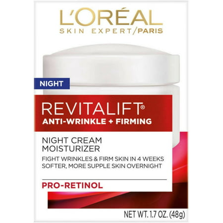 L'Oreal Paris, RevitaLift Anti-Wrinkle + Firming Night Cream Moisturizer 1.7