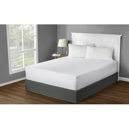 Mainstays Hypoallergenic, Super Soft Quilted Mattress Pad, Queen (Total Protection Mattress Pad)