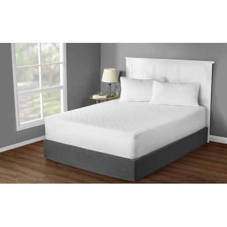 Mainstays Hypoallergenic, Super Soft Quilted Mattress Pad, Queen