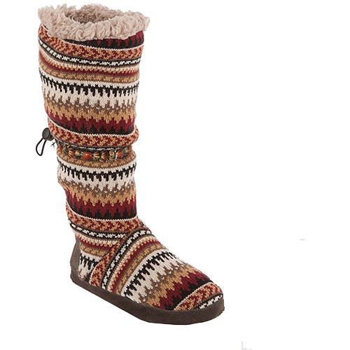 MUK LUKS Women's Tina Desert Fairisle Toggle Slipper Boots