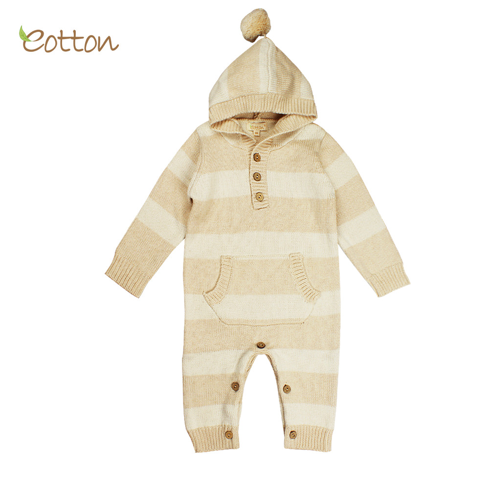 c0a7a9a617a Certified Organic Baby Toddler Cable Knit Long Sleeve One-Piece ...