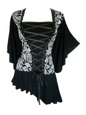 Dare To Wear Victorian Gothic Boho Women's Alchemy Corset Top S - 5x