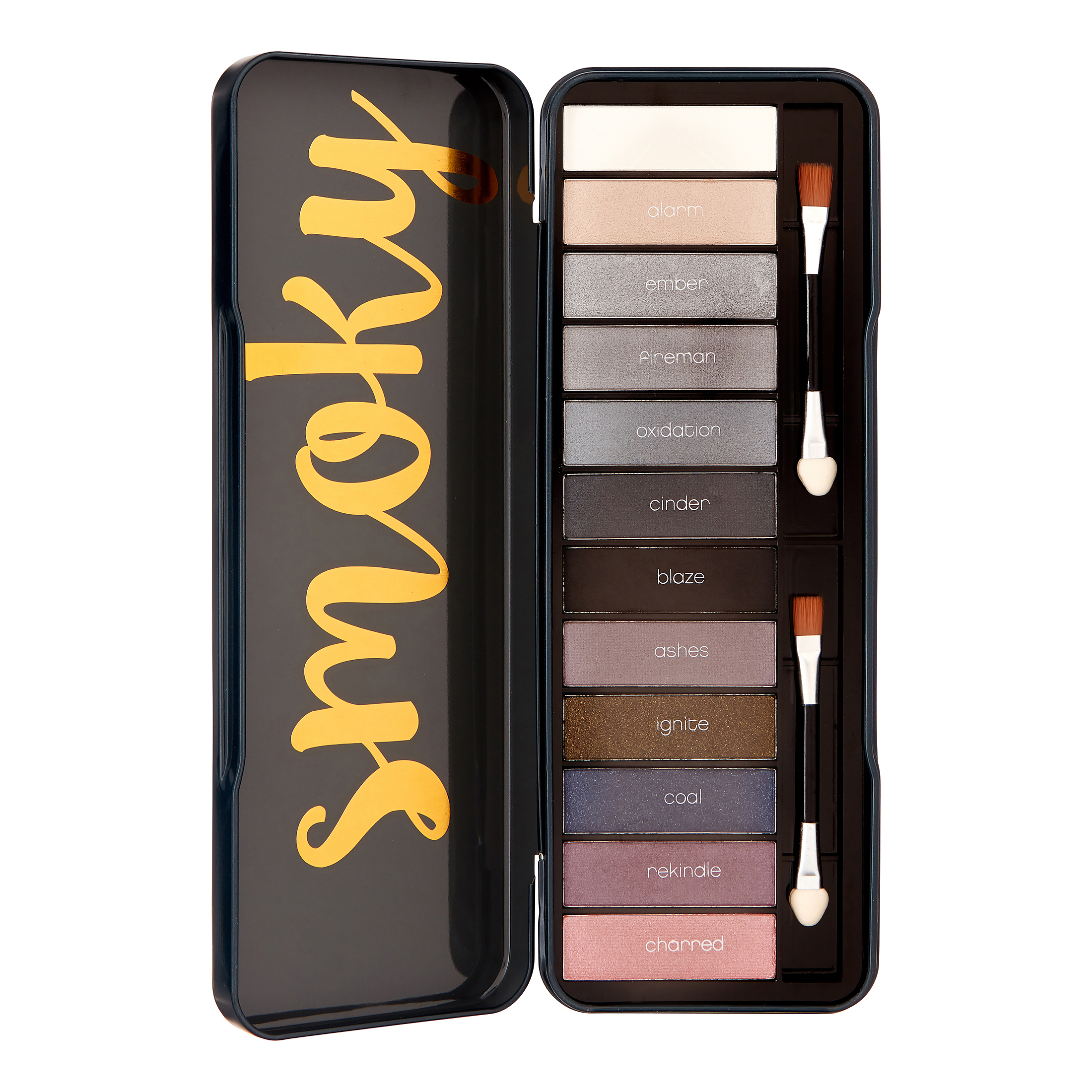 The Color Workshop Smoky Eyes Eyeshadow Palette, 14 Pieces