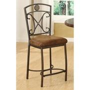Acme Alagoas Counter Chair, Set of 2, Saddle