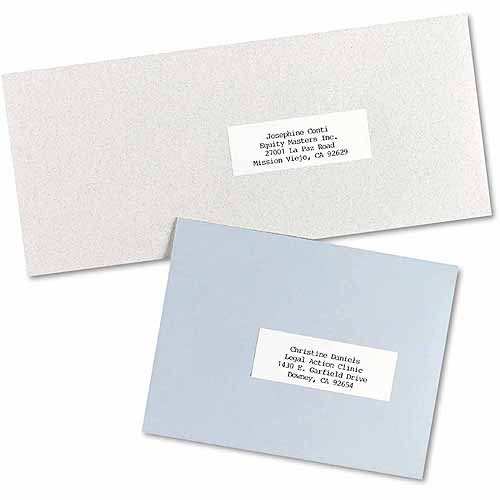 """Avery Self-Adhesive Address Labels for Copiers, 1"""" x 2-13/16"""", White, 8,250-Pack"""