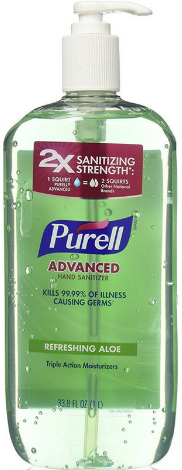 Gojo Purell Hand Sanitizer, 33.8 oz