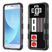 3-Layer Case for Samsung Galaxy J3 Orbit, OneToughShield ® ShockProof Protective Phone Case (Black) - Game Controller