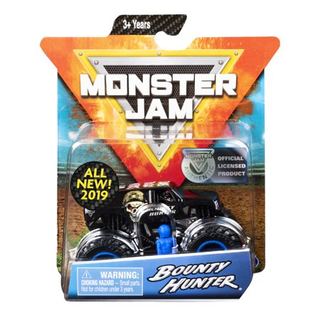 Monster Jam, Official Bounty Hunter Monster Truck, Die-Cast Vehicle, Arena Favorites Series, 1:64