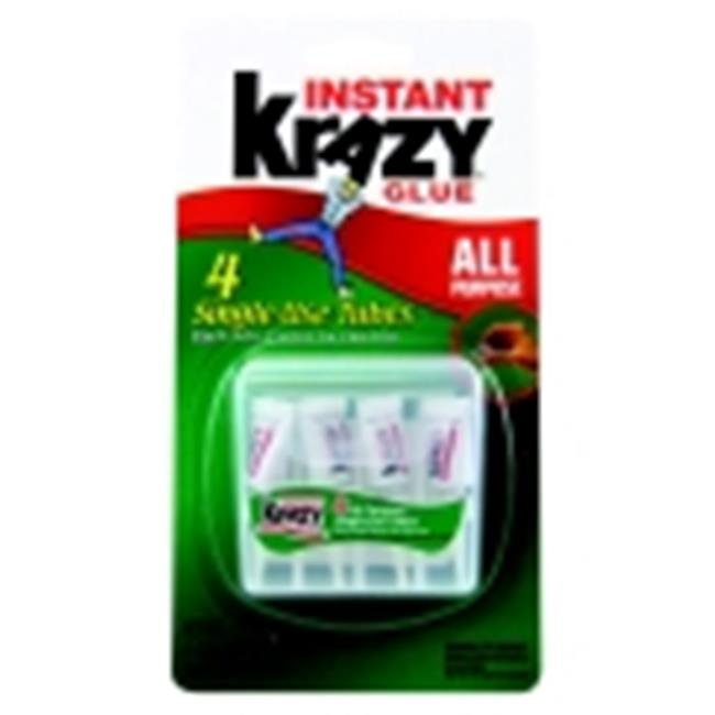 Krazy Glue 0.017 Oz. Multi-Purpose Instant Glue, Clear, Pack - 4
