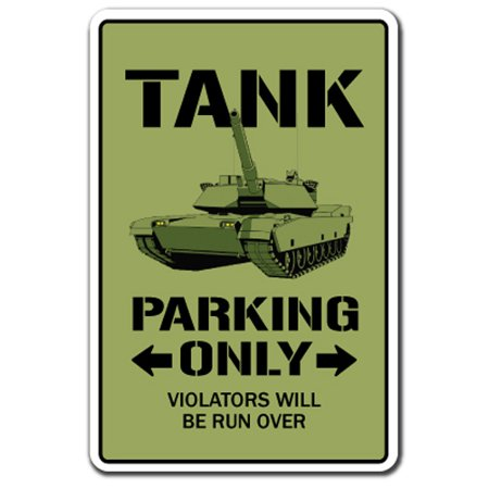 """TANK Parking Decal apc military armour army retire armoured   Indoor/Outdoor   5"""" Tall"""
