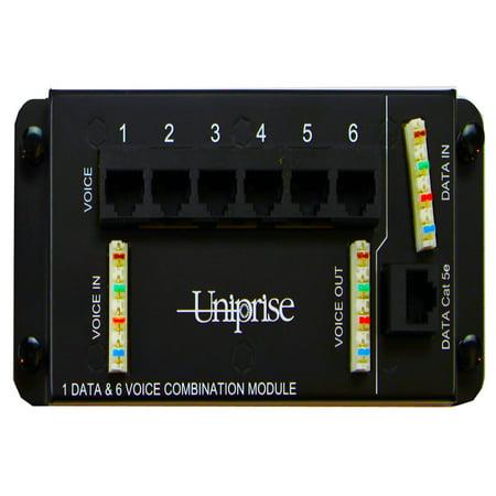 Commscope Uniprise UNMDU-CDM-1D/6T CC0061994 (6) Voice & (1) Data - Home Automation Wiring Patch Panel Module. Fits SMC MDU Enclosures.