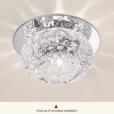 5w Color Simple Crystal Led Ceiling Light Fixture Pendant Lamp Lighting Chandelier