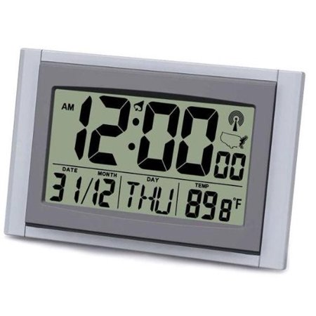 Sonnet Industries Jumbo LCD Display Alarm Atomic Clock