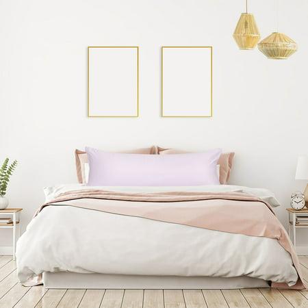 "Unique Bargains 2 Pack Silky Satin Body Pillow Cases Lavender Gray 21"" x 54"""