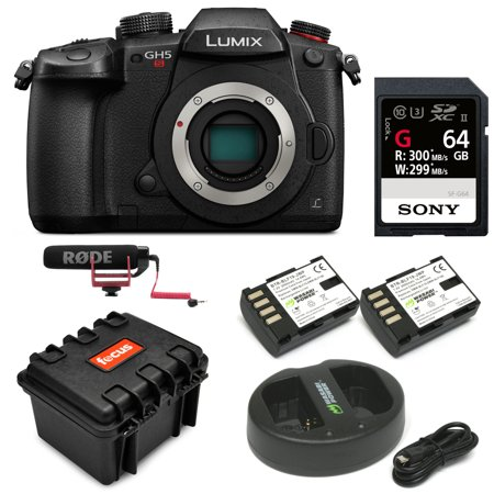 Panasonic LUMIX GH5s Mirrorless Camera Body with 64GB Card and Accessory Bundle