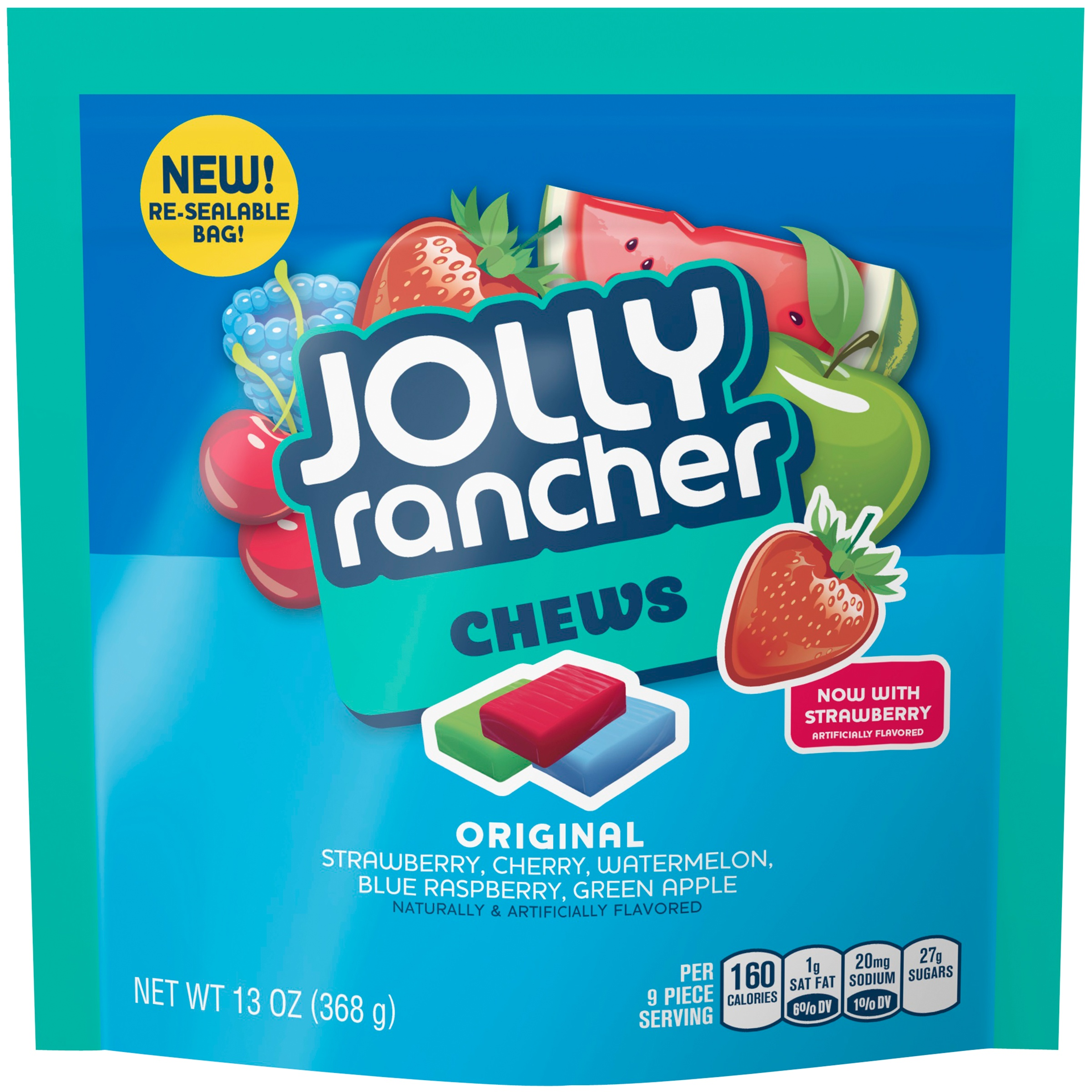 (2 Pack) Jolly Rancher, Chews Original Candy Assortment, 13 Oz