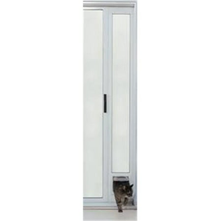 Ideal pet products patcfw cat flap patio door white for Ideal pet doors