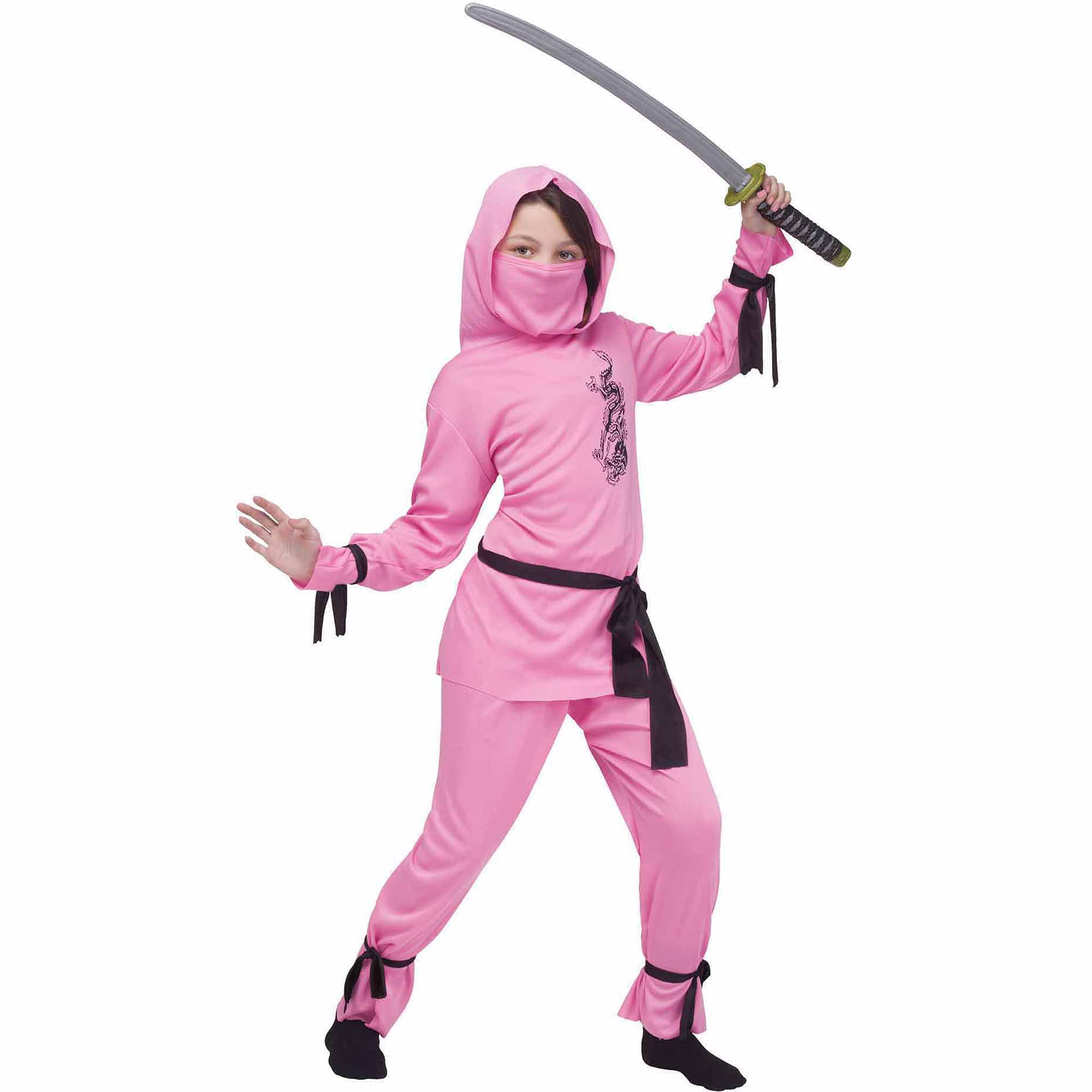 pink ninja child halloween costume walmartcom