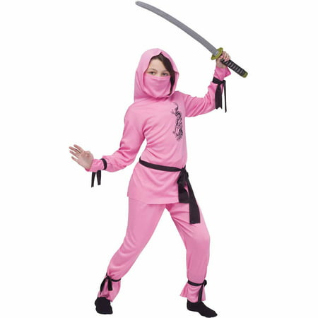 Pink Ninja Child Halloween Costume](Ninja Costume Makeup)