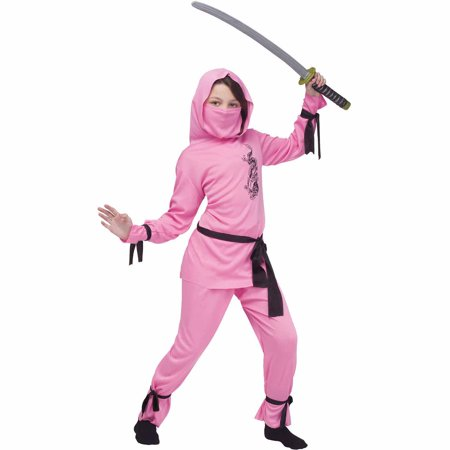 Pink Ninja Child Halloween Costume - Ninja Costume Spirit Halloween
