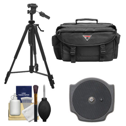 "Precision Design PD-58PVTR 58"" Photo/Video Tripod with Case with Extra Quick Release Plate + Case + Accessory Kit for Digital SLR Cameras"