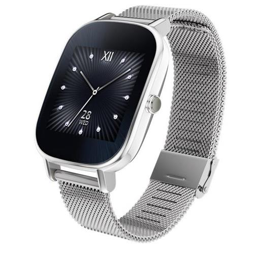Asus ZenWatch 2 - Silver Case with Silver Metal Band, 1.4...