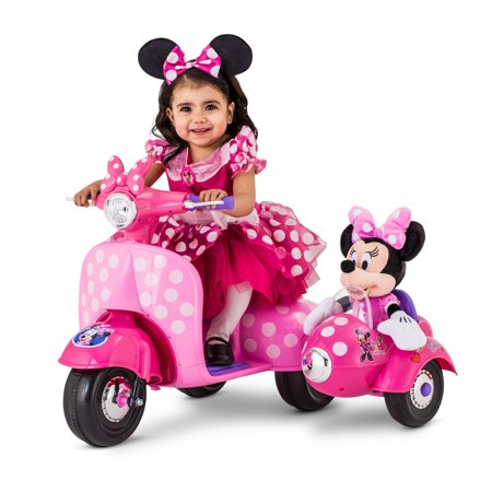 Disney Minnie Mouse Happy Helpers Scooter with Sidecar Ride-On Toy by Kid