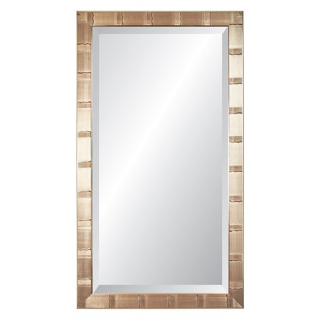 """Christopher Collection Silver Lined and Accented Wall Mirror, 29"""" x 41"""""""