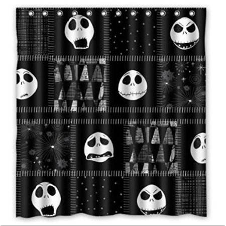 Ganma The Nightmare Before Christmas Skull Shower Curtain Polyester Fabric Bathroom Shower Curtain 66x72 inches](Nightmare Before Christmas Baby Shower)