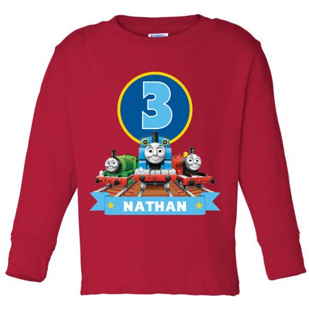 Thomas & Friends Birthday Personalized Tee - Toddler Red Long