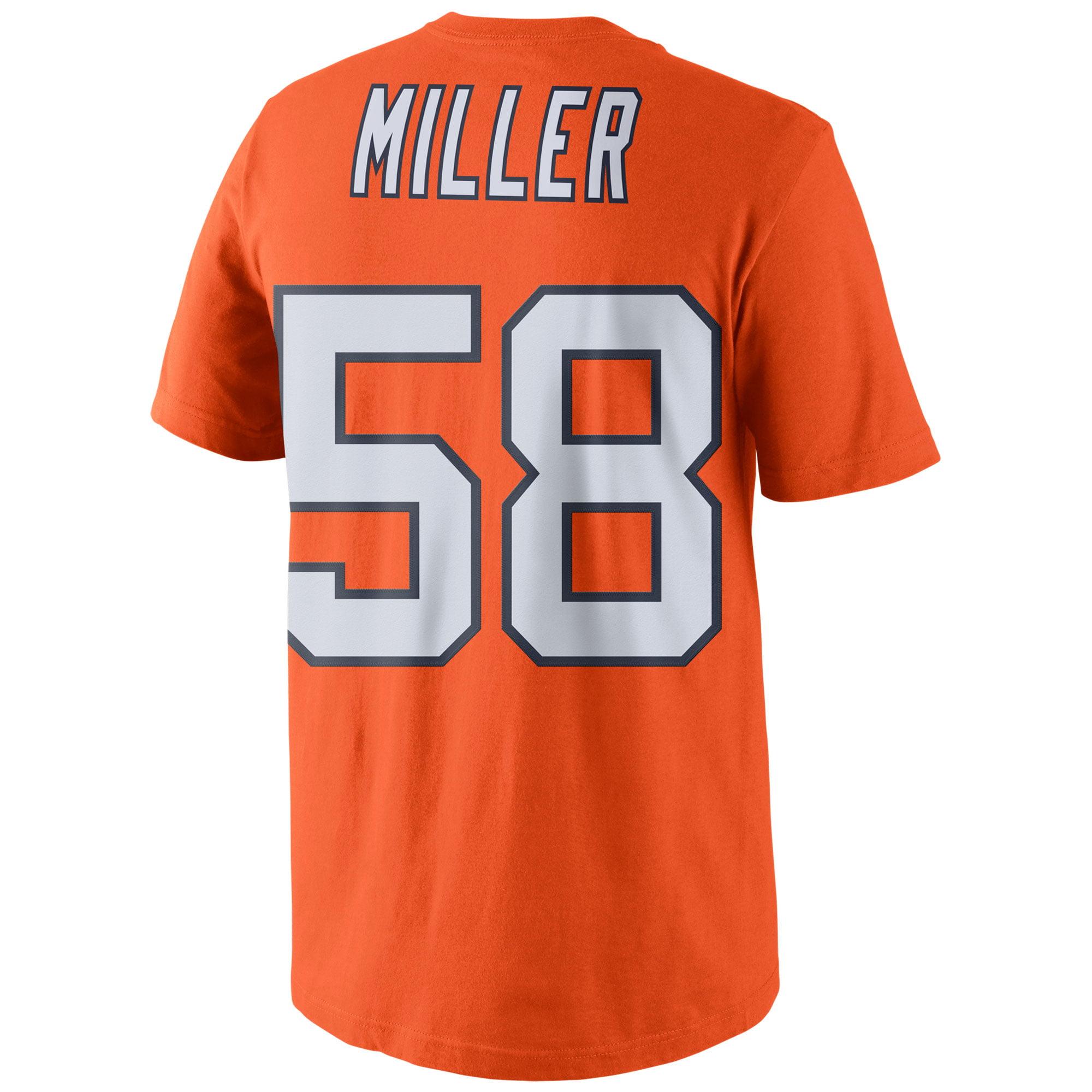 d1bcbf442 Von Miller Denver Broncos Nike Color Rush Player Pride Name   Number T-Shirt  - Orange - Walmart.com