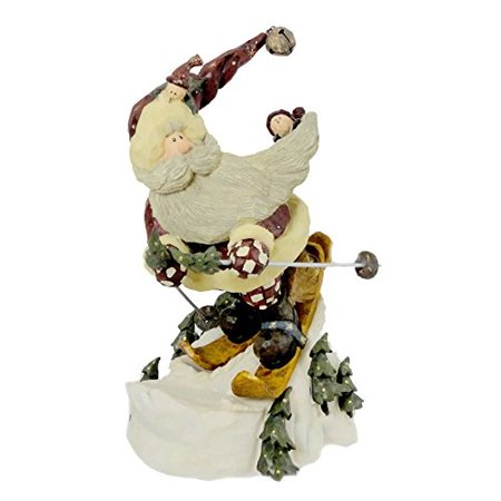 boyds bears resin santa in the nick of time christmas carvers choice - resin 8.25 in ()