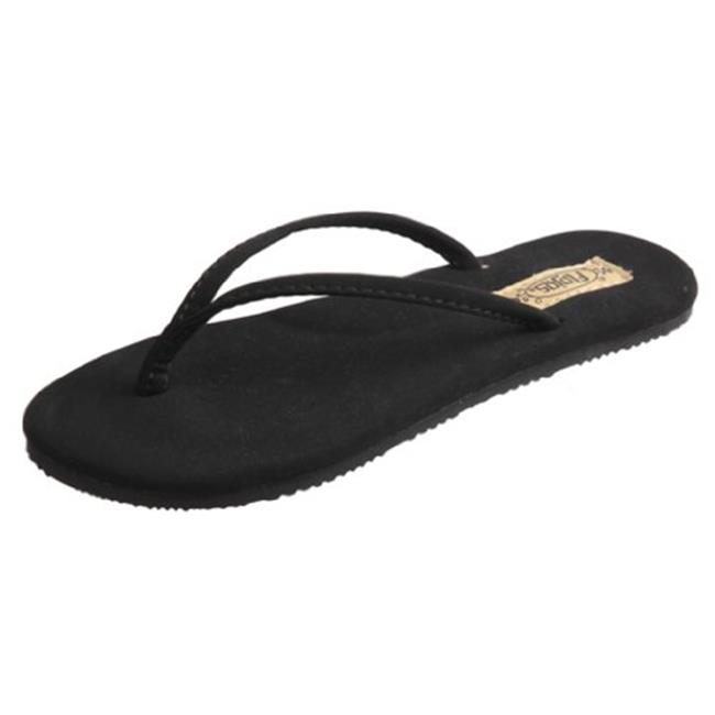 Flojos 836777019873 Girls Fiesta Flat Sandal, Black Size 2 by Flojos
