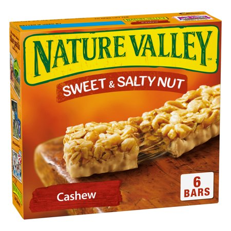 Nature Valley Sweet Granola Bars - Nature Valley Granola Bars Sweet and Salty Nut Cashew 6 Bars - 1.2 oz
