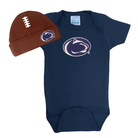 Penn State Nittany Lions Football Cap and Onesie Baby Set - Lion Outfit