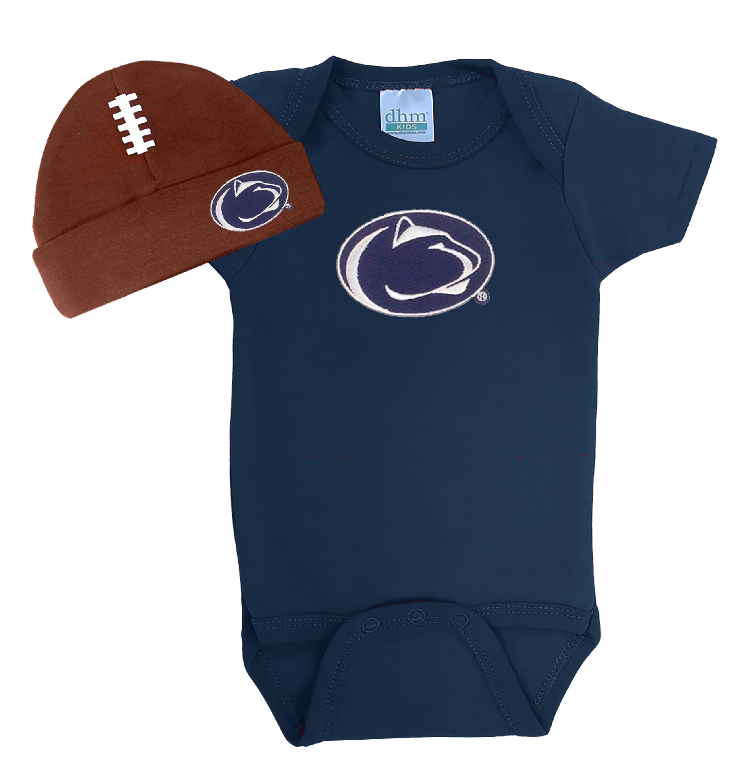 Penn State Nittany Lions Football Cap and Onesie Baby Set