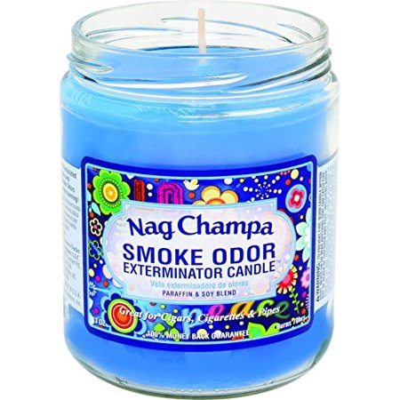 Nag Champa Smoke Odor Exterminator Candle Eliminates Smoke and Pet Odors - (Best Odor Eliminating Candles)