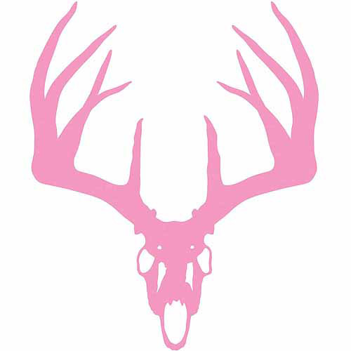 Mossy Oak Graphics 13042 Pink Whitetail Skull Decal Multi-Colored