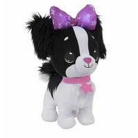 Wish Me Puppy with Black Fur, Purple Bow & Collar