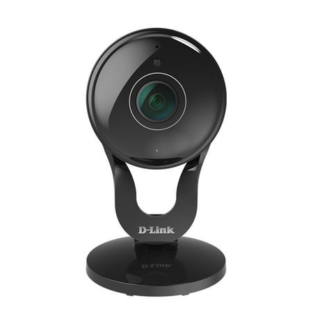 D-Link Wireless Indoor Security Camera, 1080p HD, 180° Wide Angle Viewing, Night Vision - Black, DCS-2530L