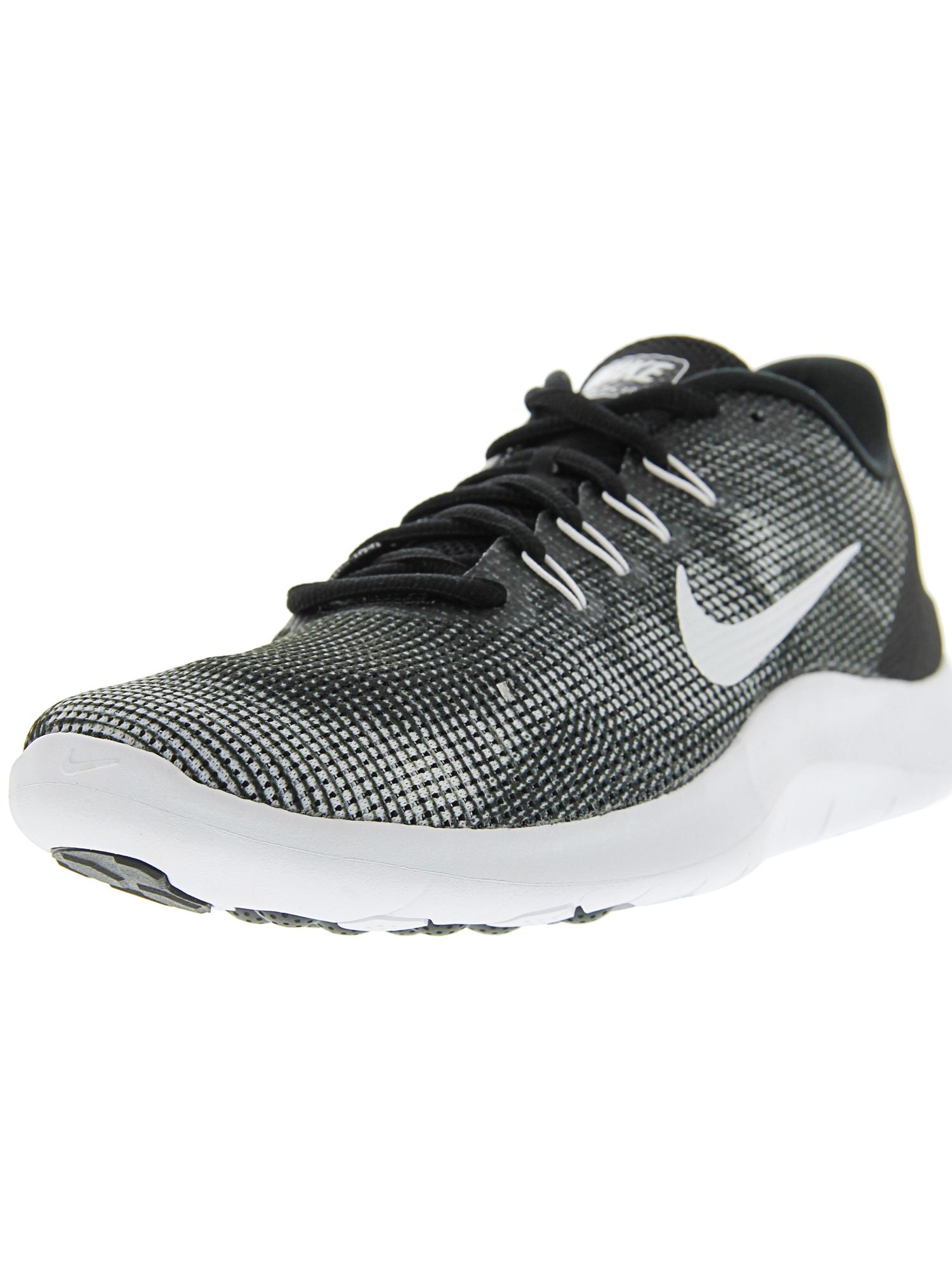 255b3ca345d6 Nike Men s Flex 2018 Rn Black   White Ankle-High Mesh Running Shoe