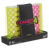 Connect 4 Neon Pop Board Game Strategy Game for Kids Ages 6 and Up