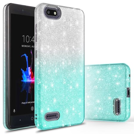 best service cbada e23d2 ZTE Blade Force Case, ZTE Warp 8 Case, KAESAR SLIM SLEEK Cute Fashinon Slim  Luxury Shinning Sparkle Bling Classy Glitter Case Cover for ZTE Blade ...