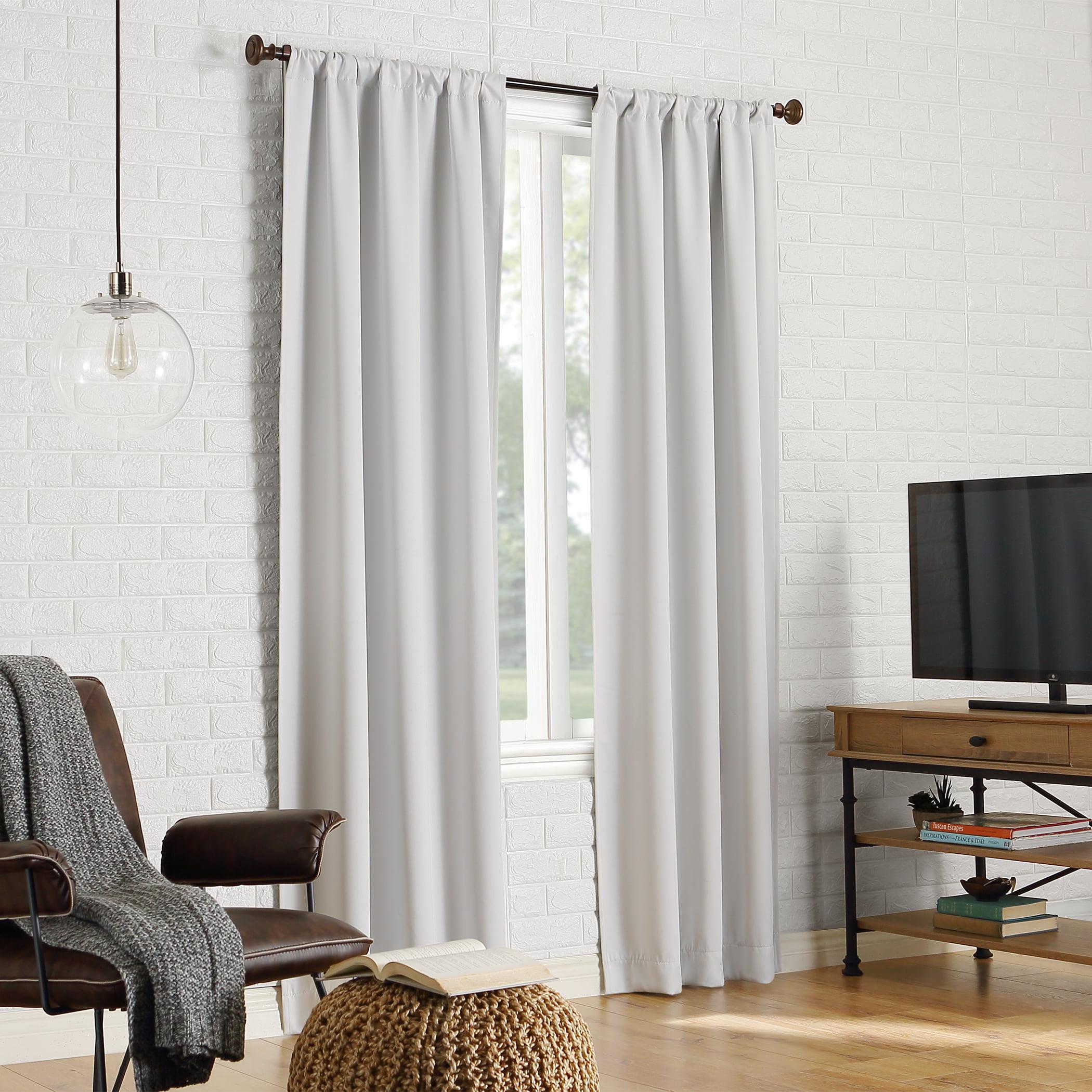 Sun Zero Avery 100% Blackout Rod Pocket Curtain Panel
