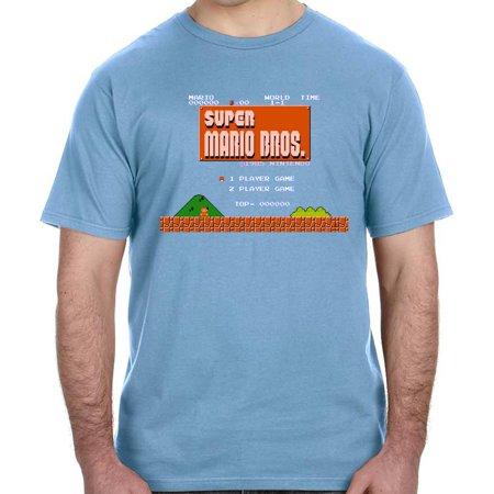(Original Super Mario Bros. Game Screen Shirt Nintendo 80s Gamer Luigi Bowser)