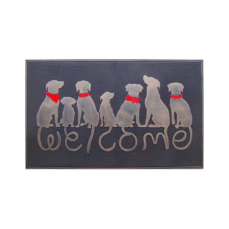 A1HC Rubber Dog Tail Welcome Doormat - 18