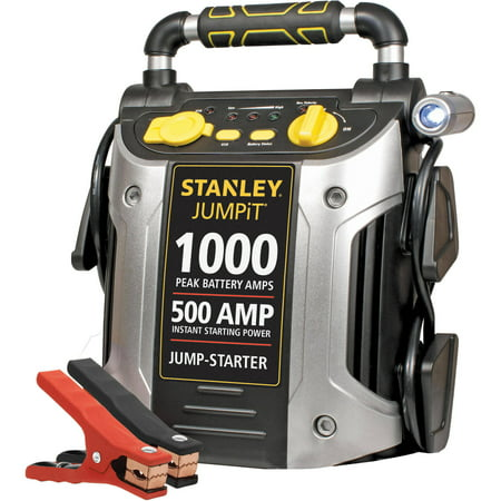 STANLEY 1000/500 Amp 12V Jump Starter with LED Light and USB (J509) ()